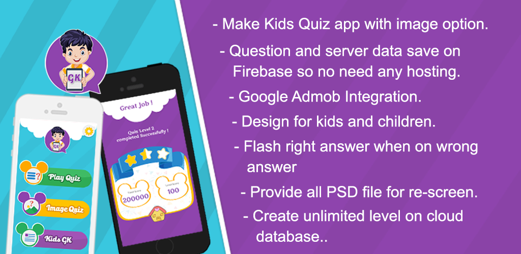 Kids Quiz - App - Android - Source code - free - Arkayapps