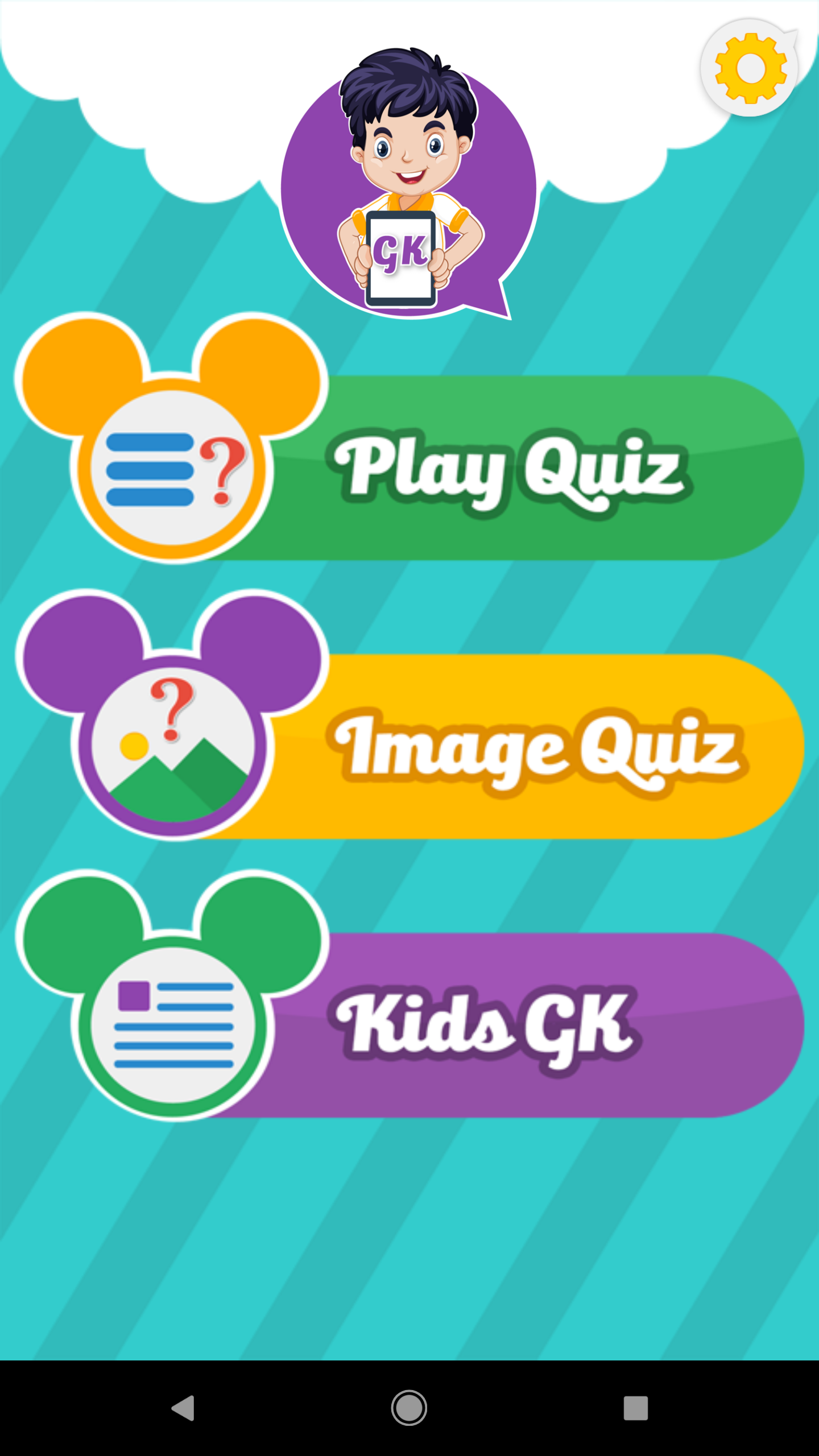 best -Kids Quiz - App - Android - Source code - home screen - free - Arkayapps