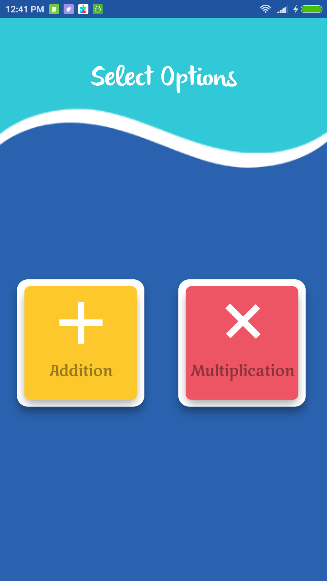 maths practice - app - select - addition -multiplication -learn -android - source code - free