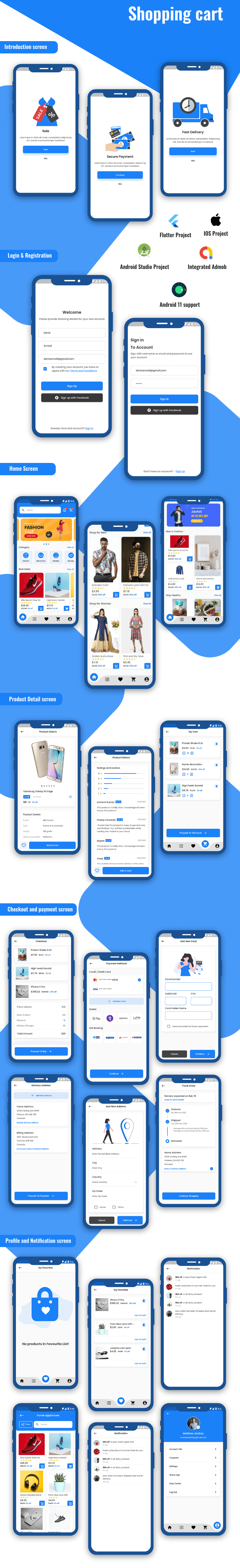 Flutter Shopping Cart UI KIT - 1