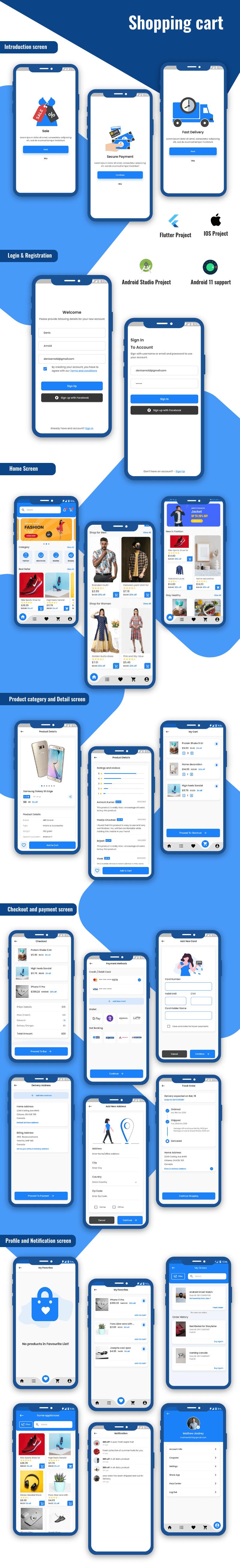 KIT d'interface utilisateur pour panier d'achat Flutter - 1