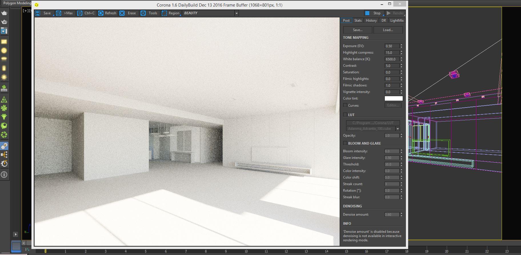Basic LightSetup Using Interactive Render For Working