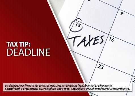 Tax Tip Deadline